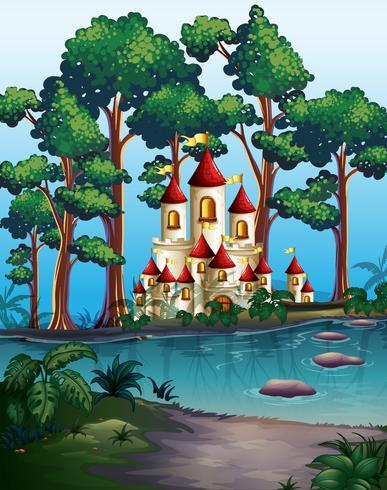 Schlosstürme im Wald