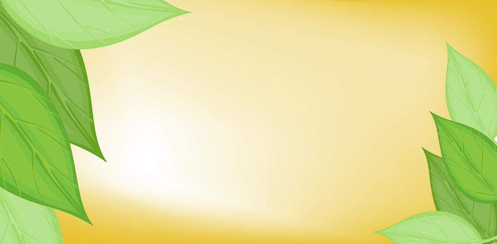 Background template with green leaves vector