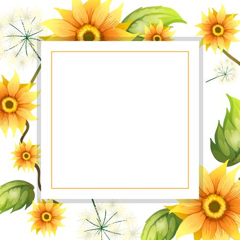A Beautiful Sunflower Frame