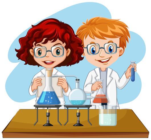 Uma experiência de cientista no laboratório