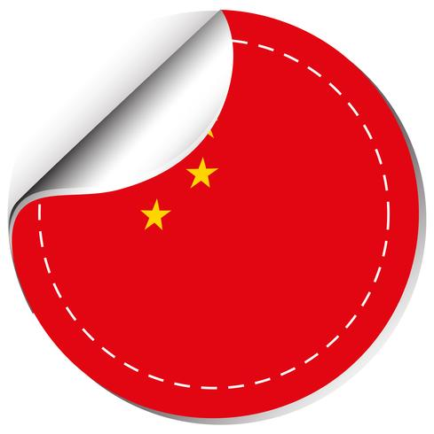 Design da etiqueta para a bandeira da china