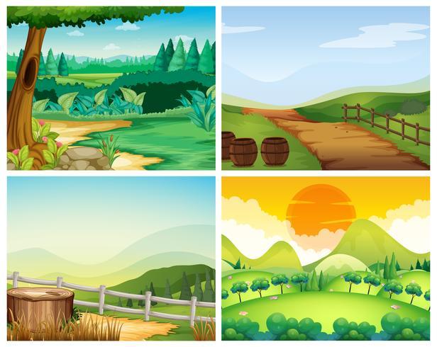 Cuatro escenas de campo