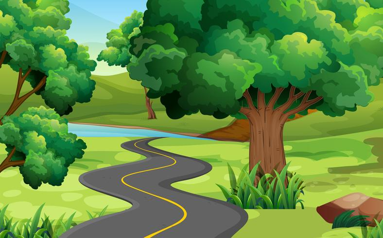Straße ins Grüne