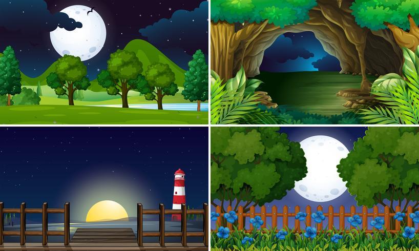 Fyra scener på natten