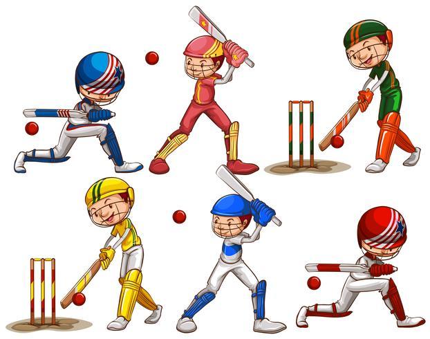 Personnes jouant au cricket