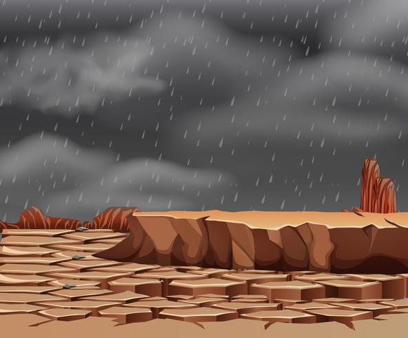 Regnar på det torka landet