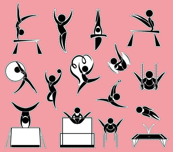 Stickerontwerp voor gymnastiek