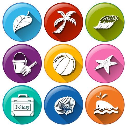 ícones de férias