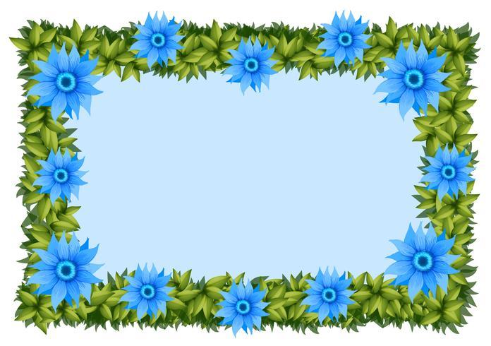 Ram mall med blå blommor