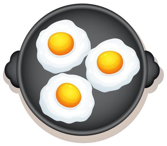 solig sida upp ägg frukost