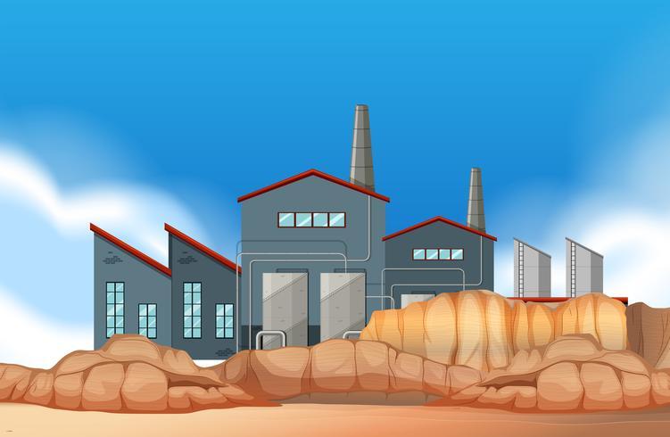 Una escena industrial industrial.