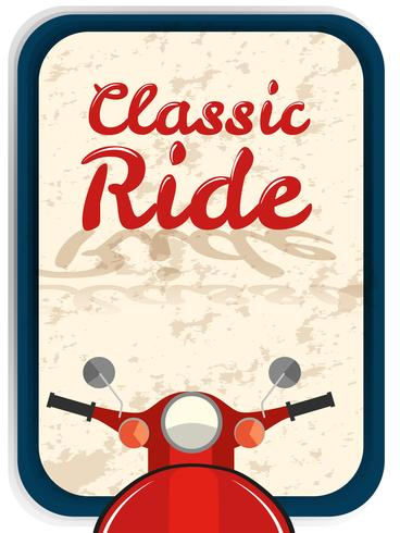 Banner design with classic ride