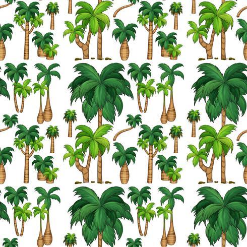 Nahtloser Hintergrund mit Palmen