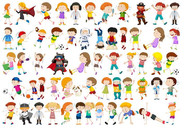 Conjunto de personajes de personas.