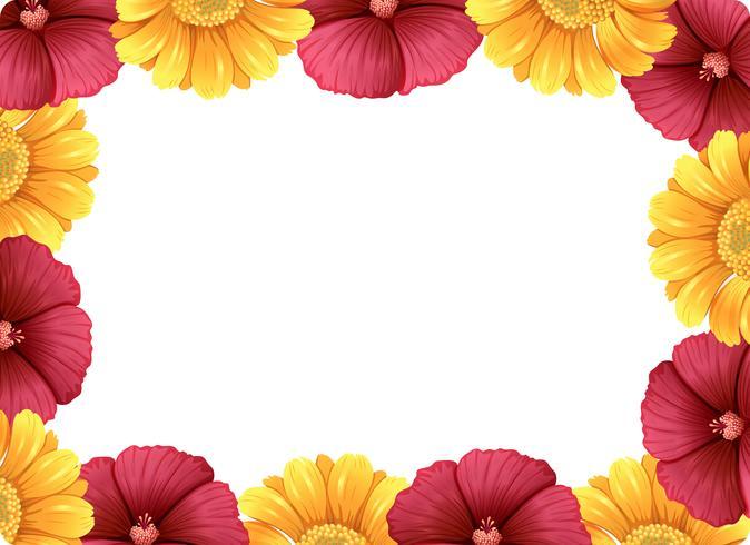 Un hermoso marco de flores. vector