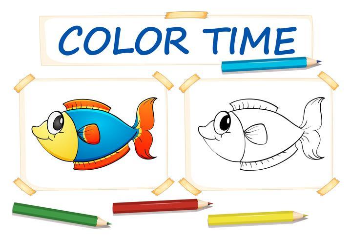 Färgsmall med fisk