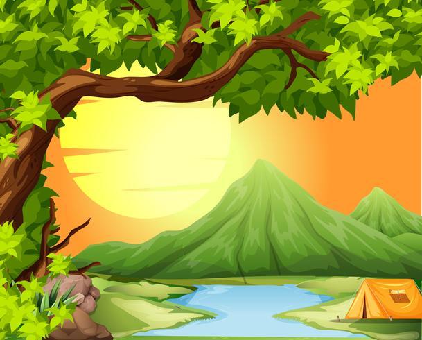 Campeggio nella natura