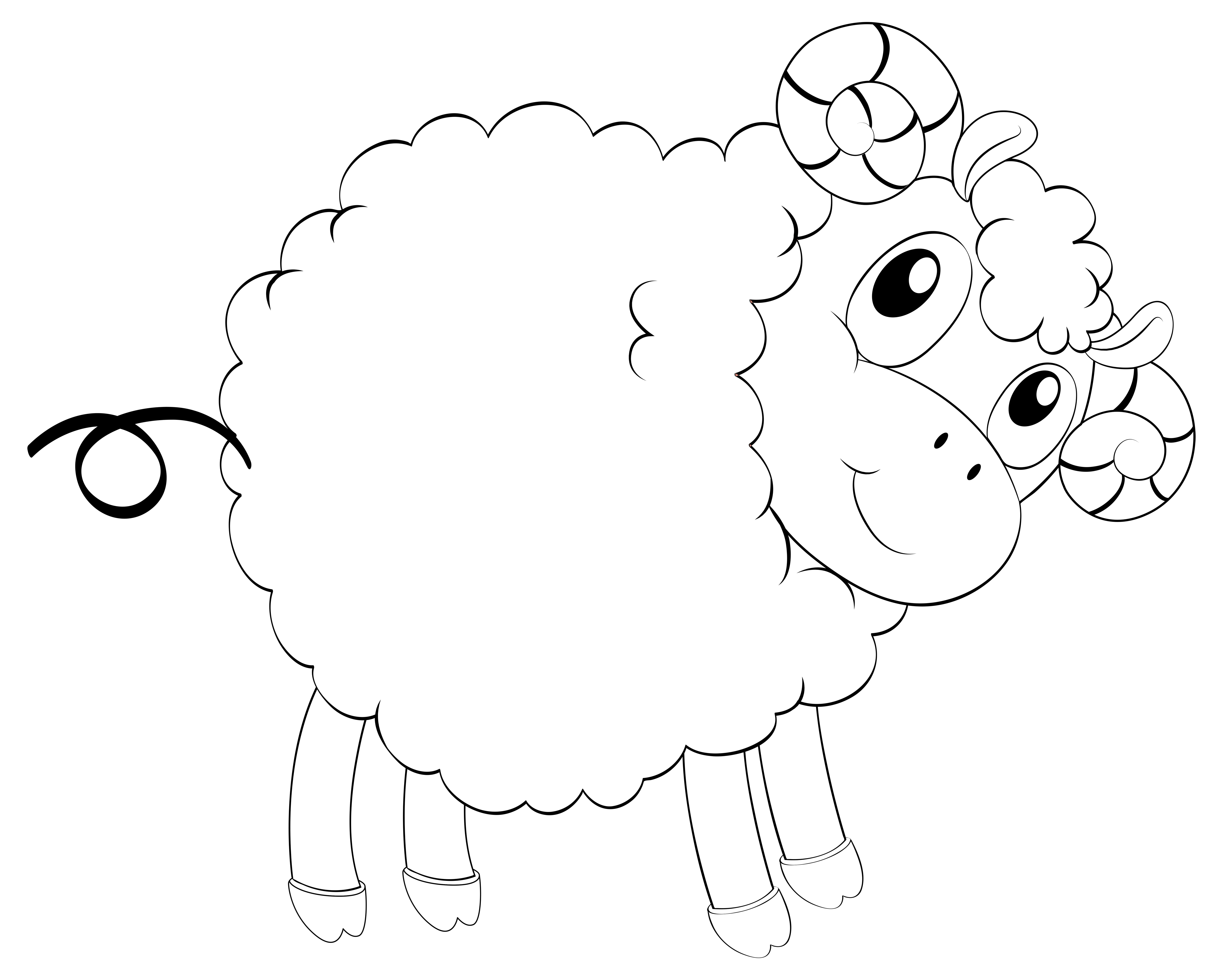 Animal outline for cute sheep - Download Free Vectors ...