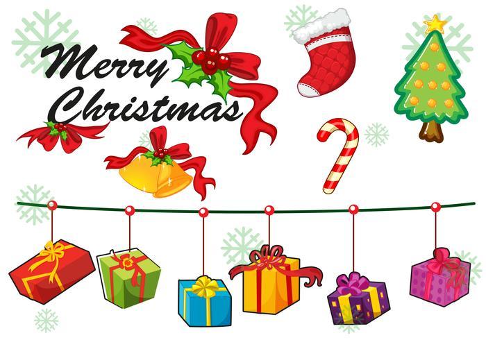 Julkort mall smycken och gåvor vektor
