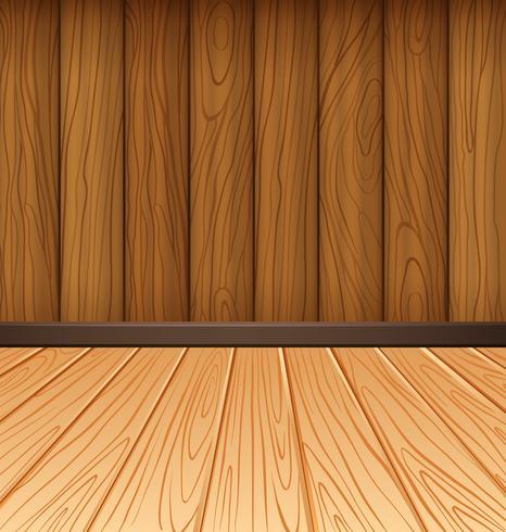 Parete in legno e piastrelle in legno