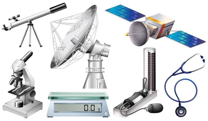 Diferentes tipos de dispositivos de tecnología.