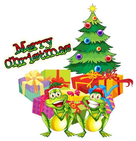Jul tema med träd och presentlådor