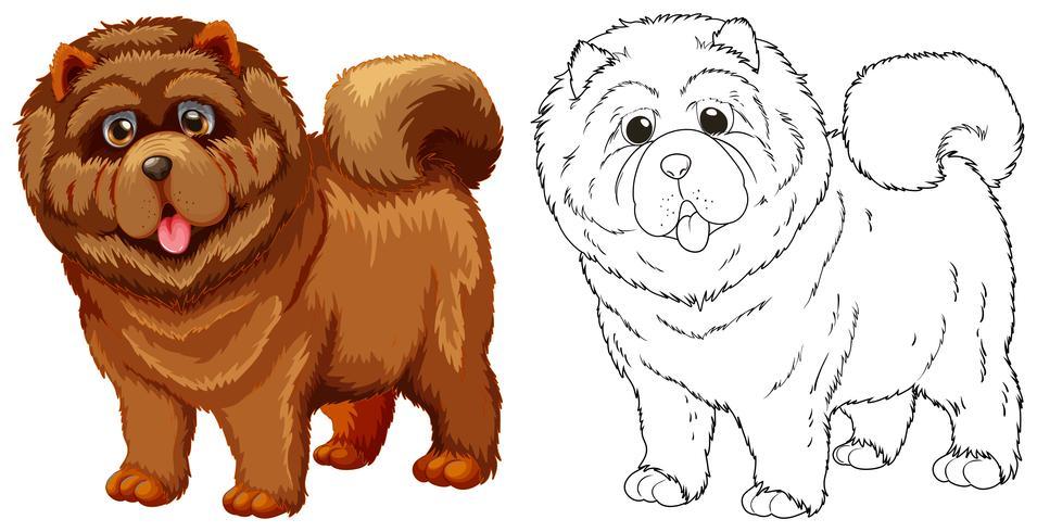 Djur skiss för fluffig hund