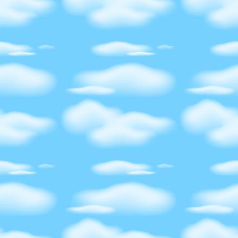 Plano De Fundo Sem Emenda Com Nuvens No Ceu Azul Download