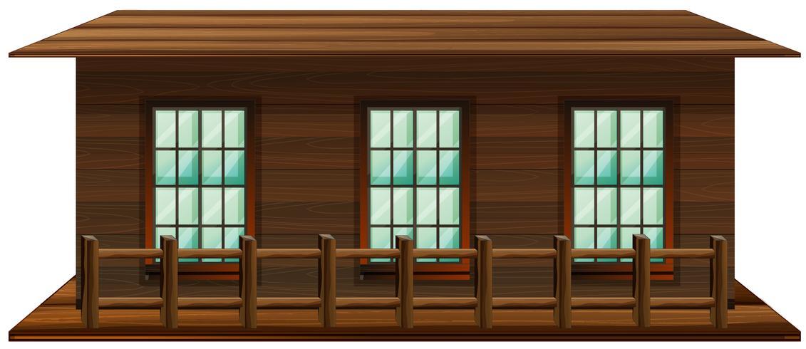 Huis gemaakt van hout
