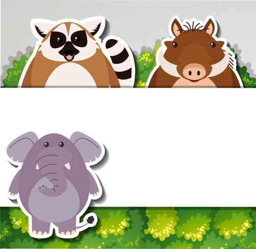 Bannermalplaatje met schattige dieren