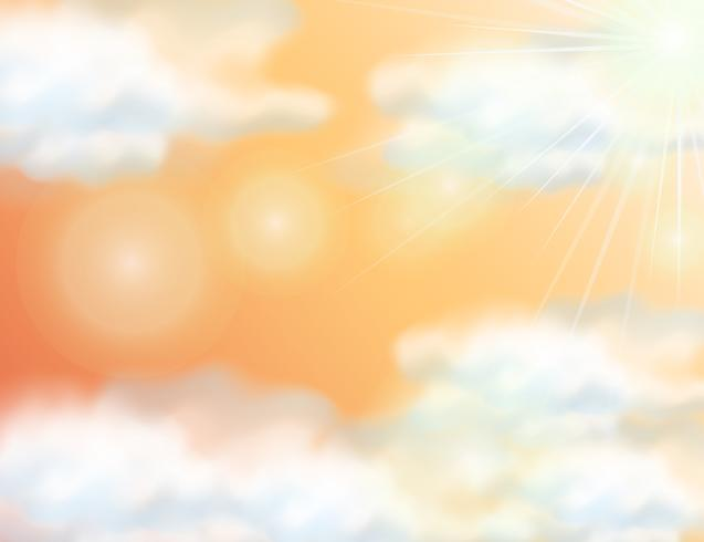 Background template with orange sky