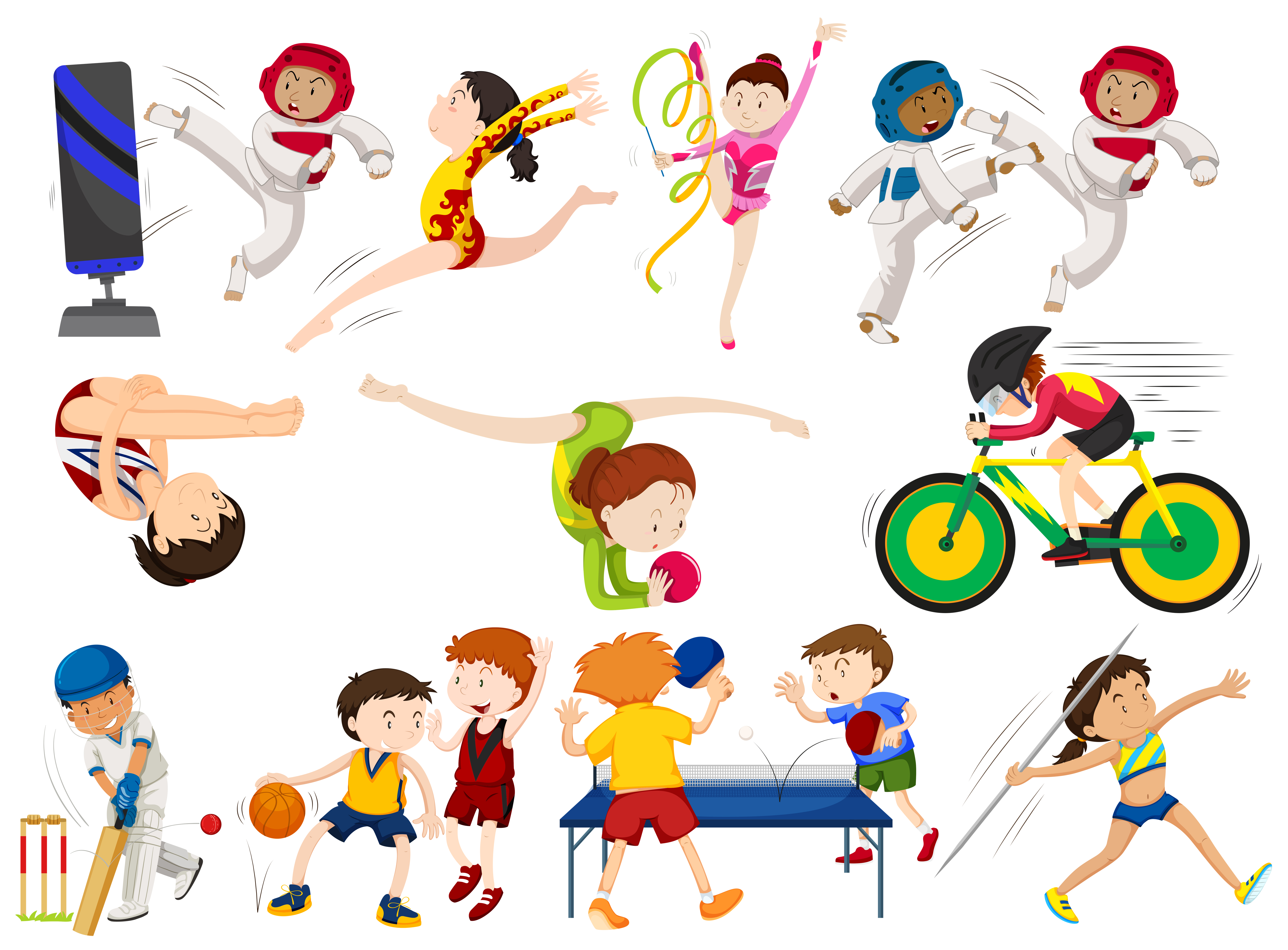sports different types clipart vector vectors graphic