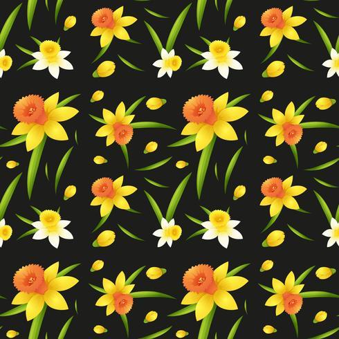 Design de fond transparente avec des fleurs de jonquille