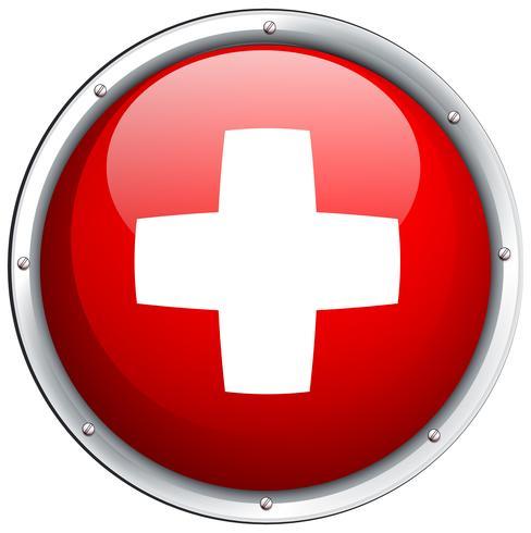Bandeira da Suíça no ícone redondo