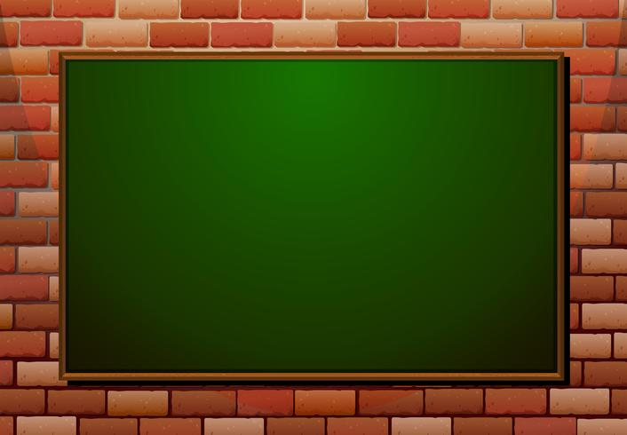 Tafel auf der Backsteinmauer
