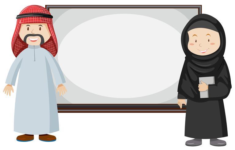 Moslimpaar dat zich door de raad bevindt