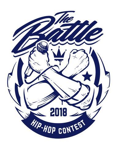 Hip-hop vector embleem