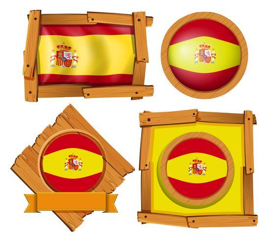 Ícone do design para a bandeira da Espanha