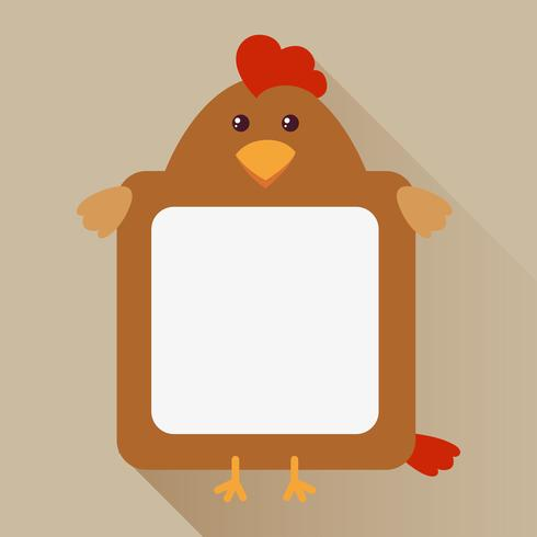 Modelo de fronteira com cabeça de galinha