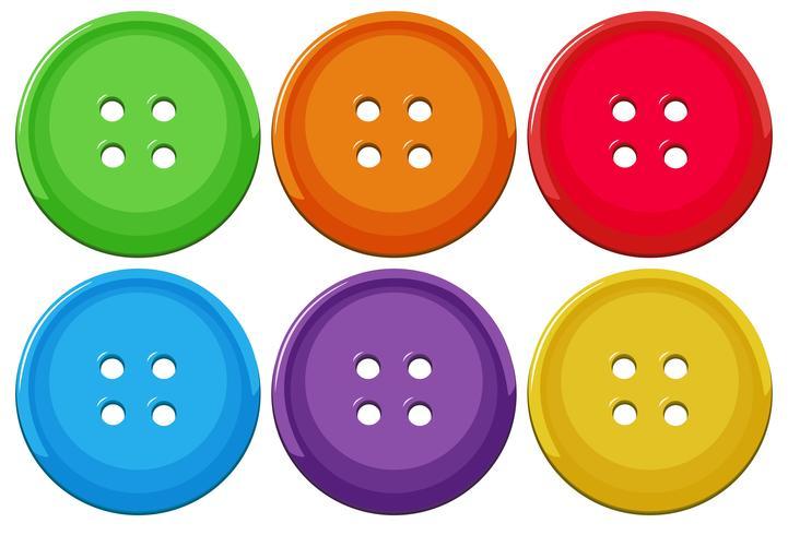 Set med färgglada knappar