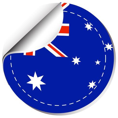 Sticker design for flag of Australia