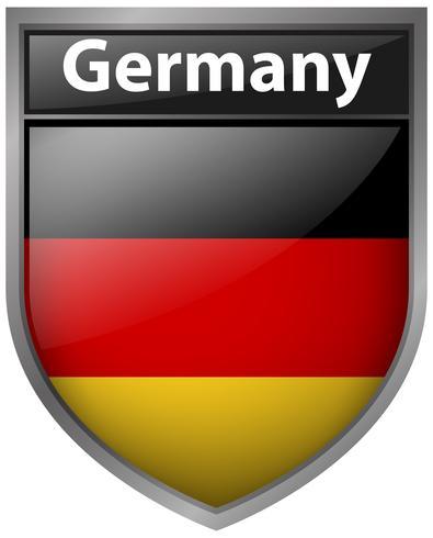 Flagga av Tyskland på märke