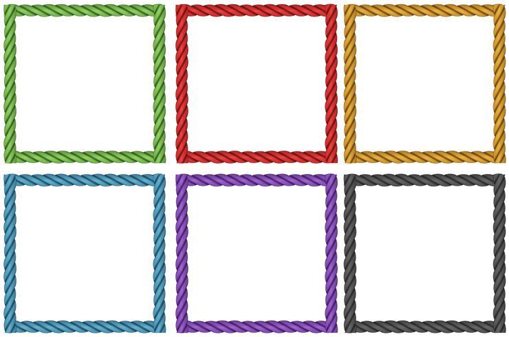 Ramkonstruktion i sex färger