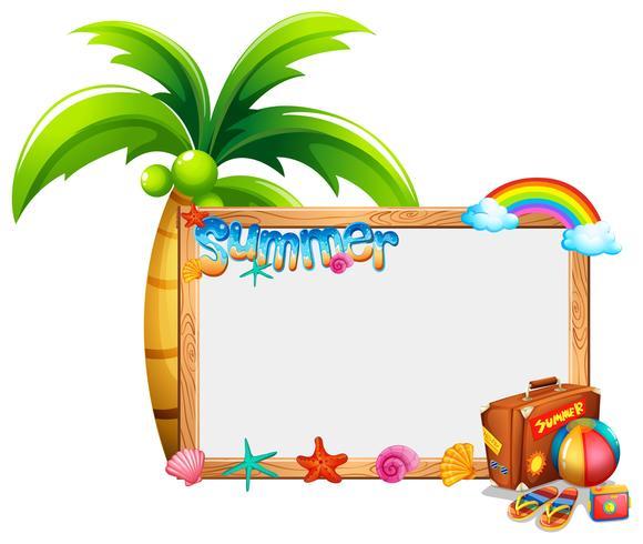 Plantilla de borde con tema de verano