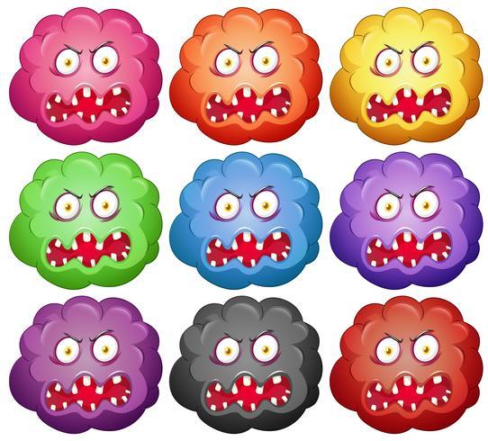 Germe com caras de monstro