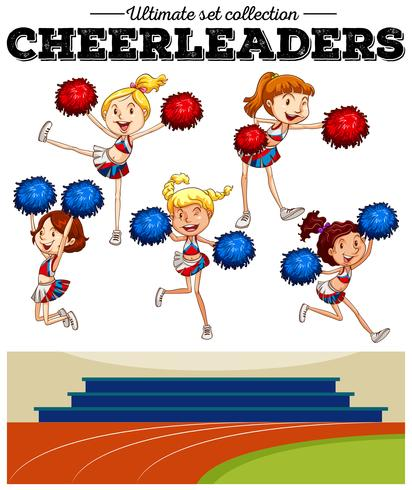 Cheerleaders tifo nel campo