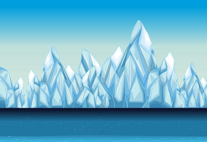 Fond avec glacier et océan
