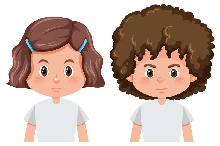 Set von Jungen und Mädchen Charakter