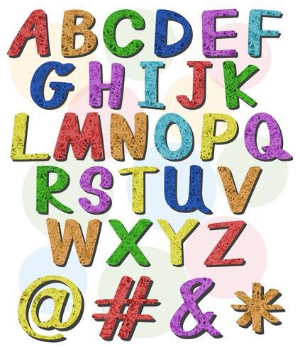 Bunte große Buchstaben des Alphabets