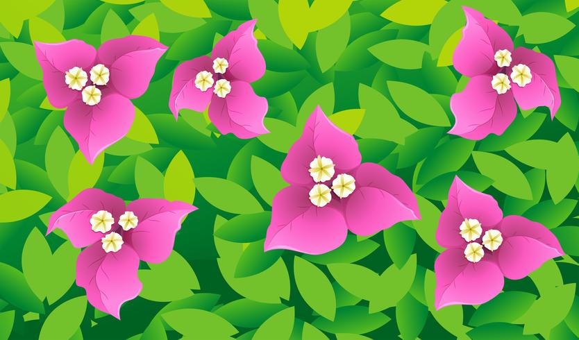 Seamless background design with flowers and leafs
